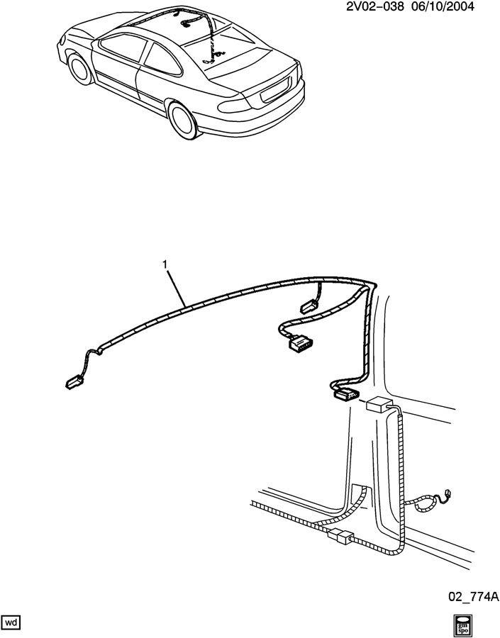 wiring harness  sunshade