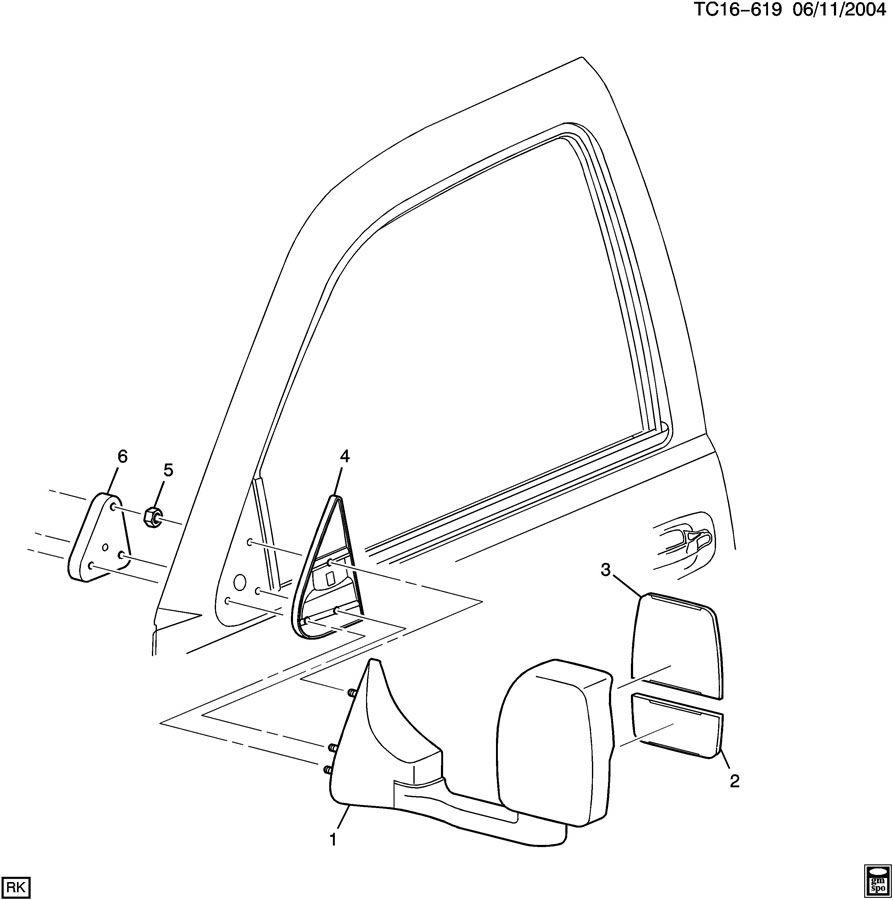 15134698 - Gmc Mirror   6r2  Rear View Mirror