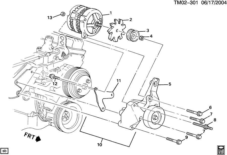 Chevrolet Astro Bracket  Engine Fan Coolant  Bracket  Gen
