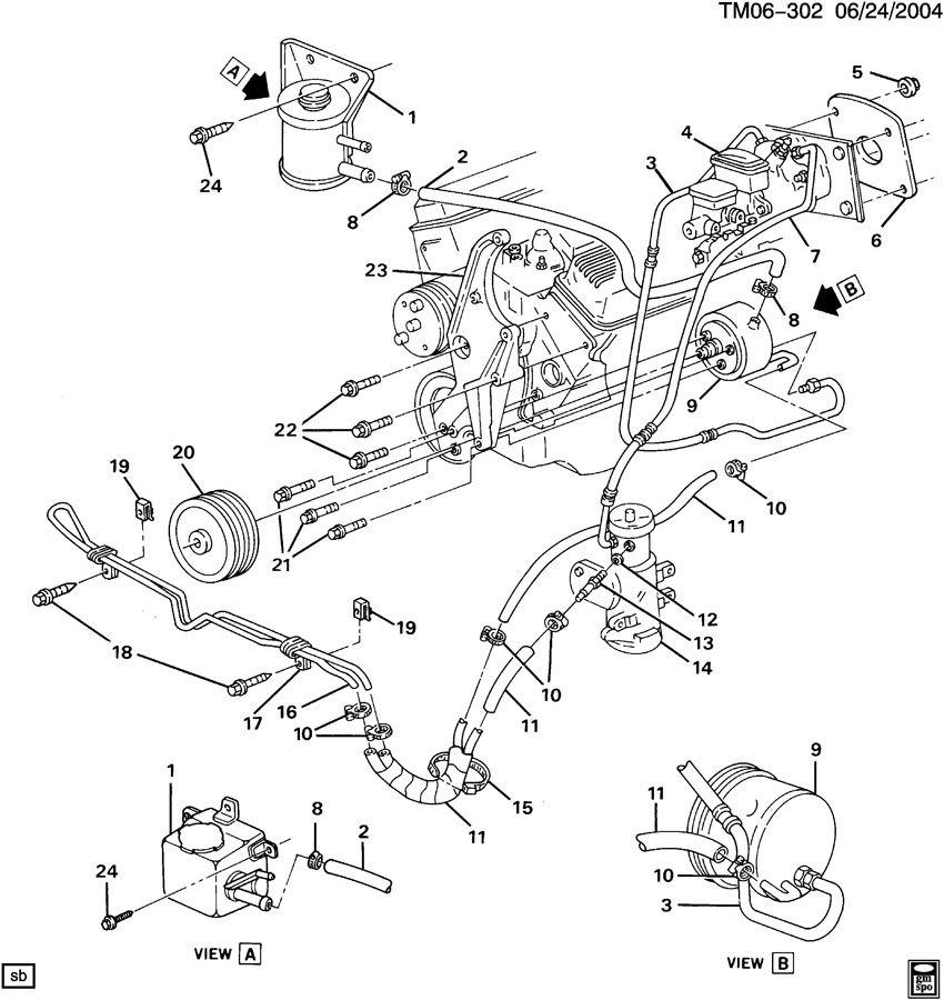 1993 gmc safari steering pump lines