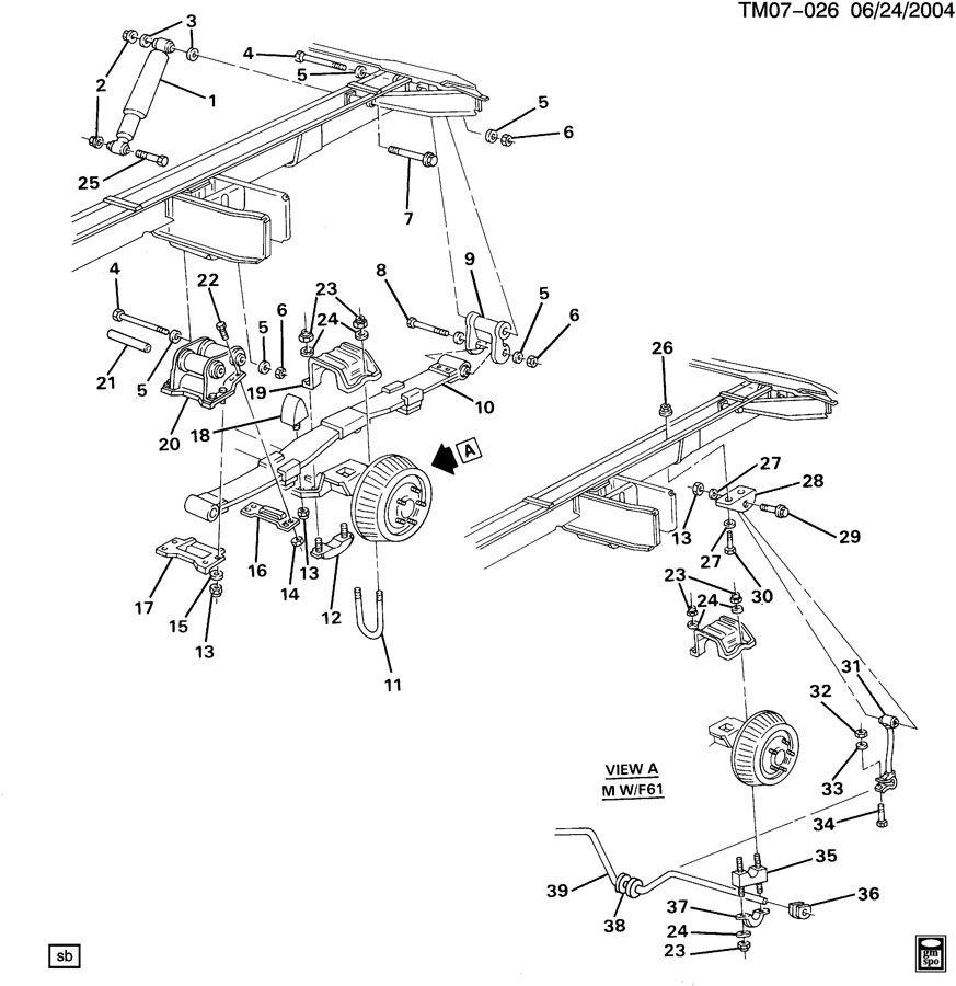 1993 Chevrolet Astro Spring  Rear
