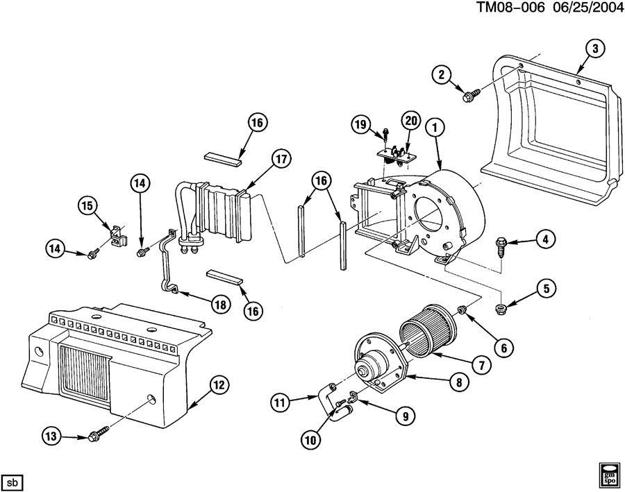 Chevrolet Astro Case  Heater Core  Case  Aux Htr  Caseaux