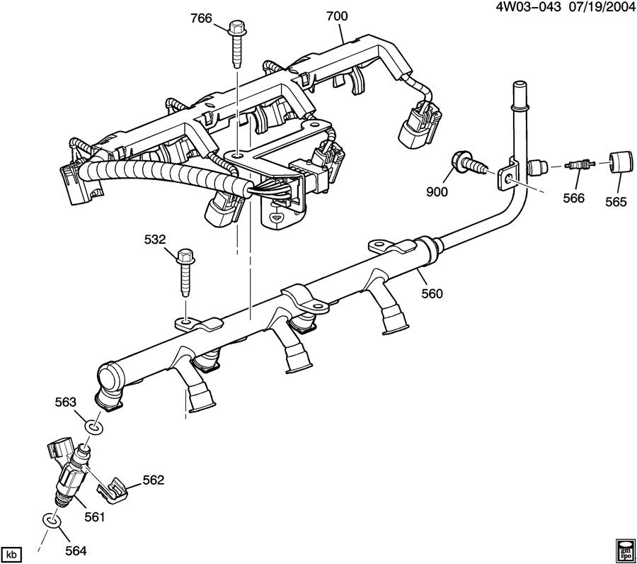 12604672 - gm harness assembly  injr wiring