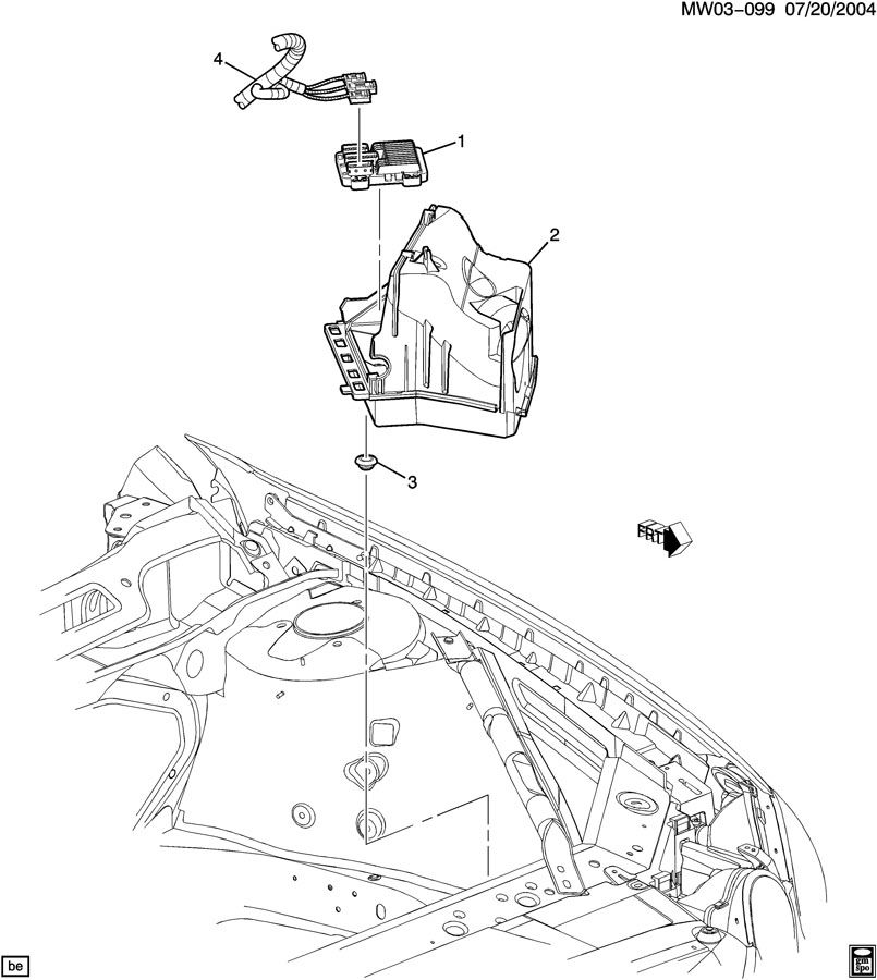 2006 Buick Lacrosse P C M  Module  U0026 Wiring Harness