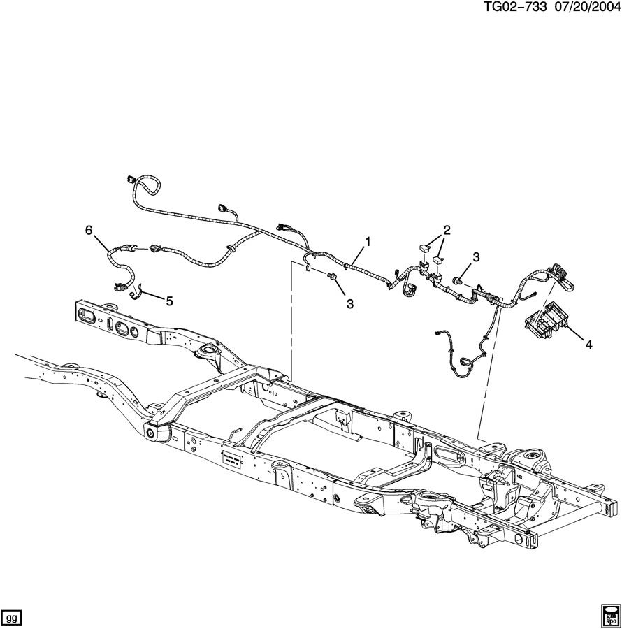 2005 chevrolet express wiring harness  chassis