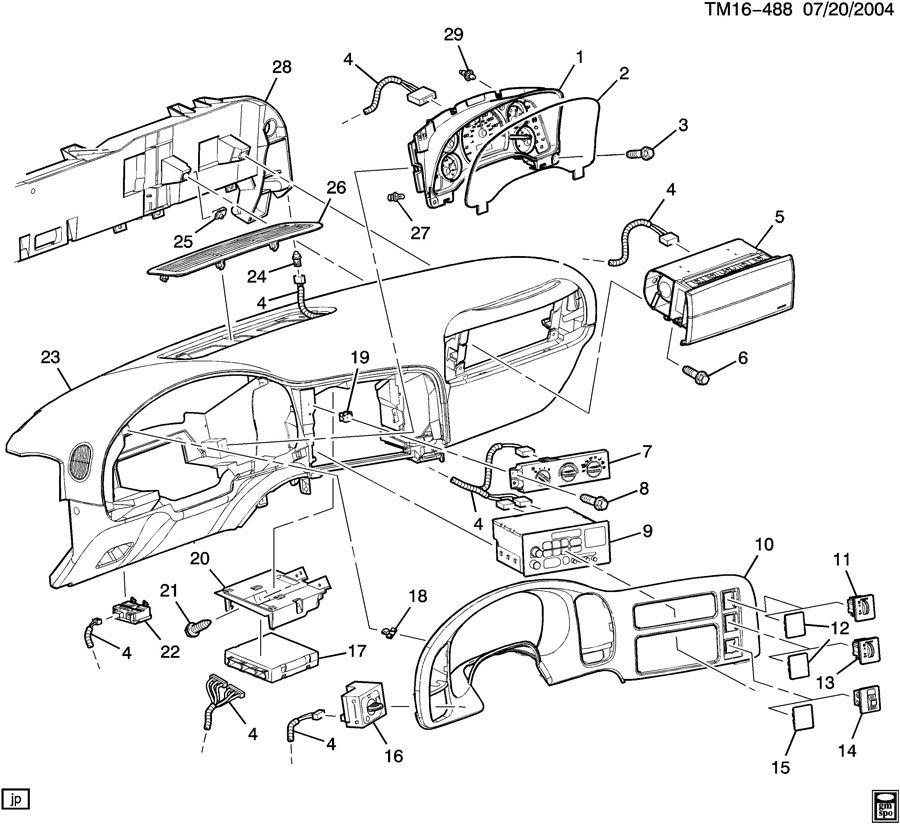 instrument panel & related parts part 2 1997 gmc safari wiring diagram 2002 gmc safari parts diagram #13