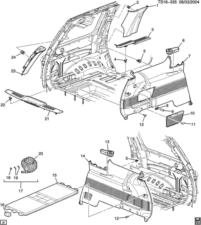 diagram for 2004 trailblazer body parts