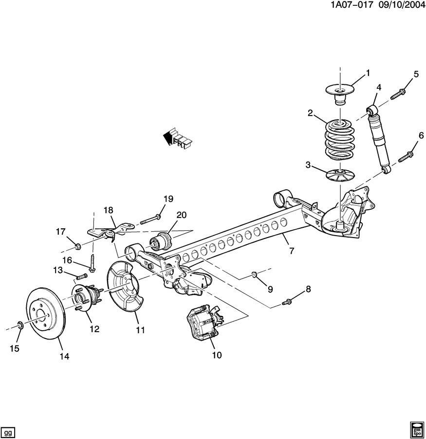 2007 Chevrolet Cobalt Bolt  Shock Absorber  Strut  Bolt  Rr Susp Strut Dpnr M14x2x75  08 900