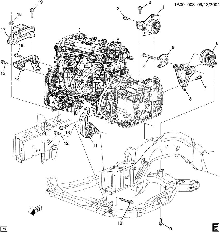 Chevrolet Hhr Ss Engine Diagram Chevy 2 2l Engine Block