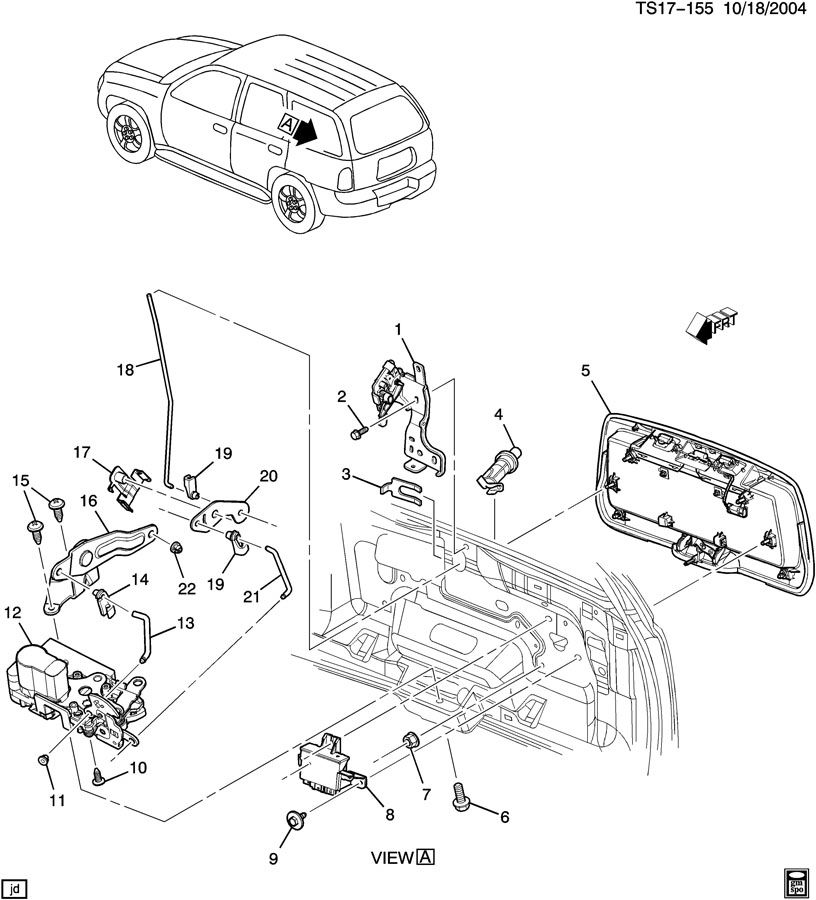 ShowAssembly on Oldsmobile Bravada Parts Diagram