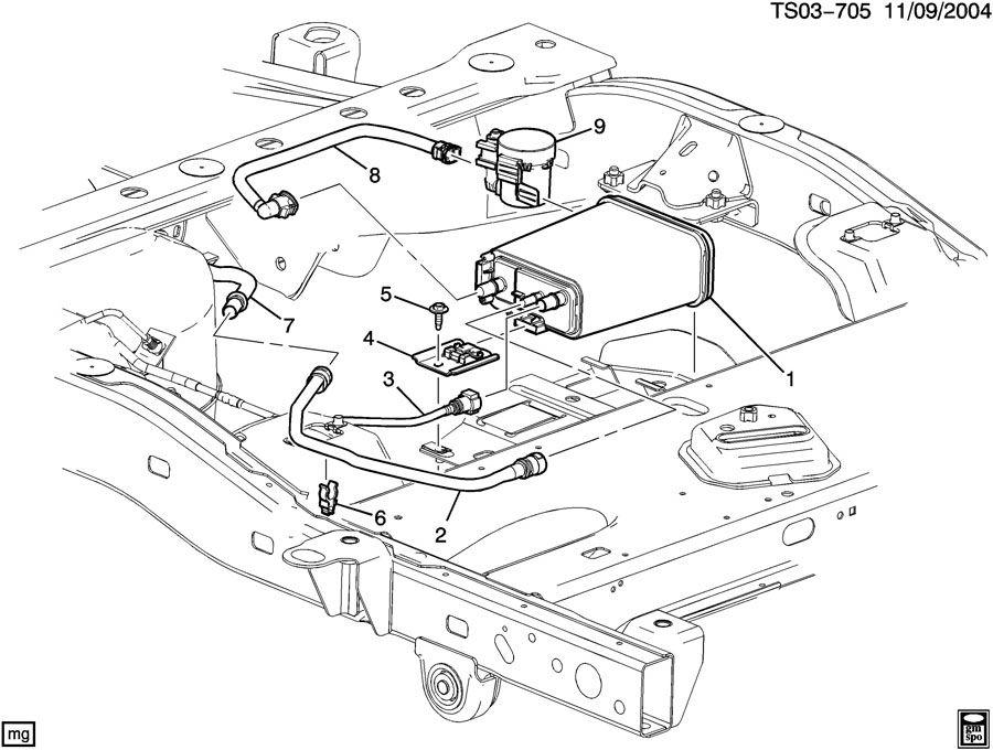 Chevrolet Colorado Canister  Fuel Tank Evaporator Control