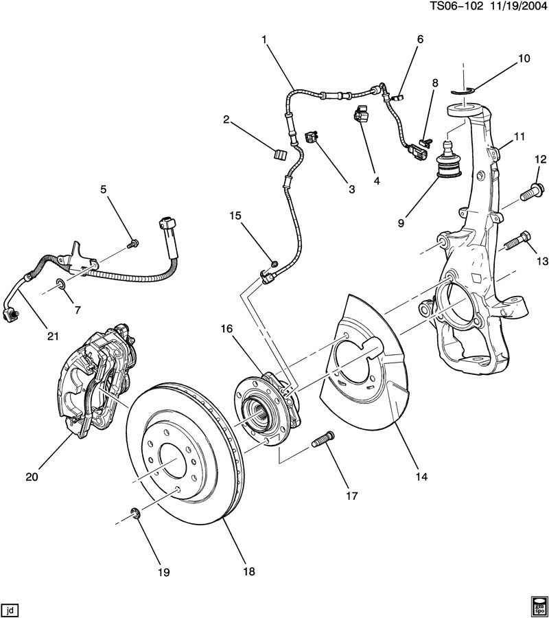 brake caliper mounting  front  u0026 knuckle
