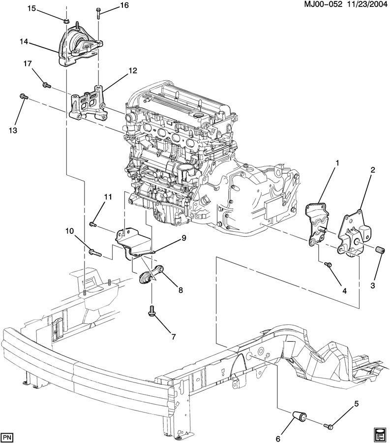 2002 pontiac sunfire engine diagram motor mounts  pontiac