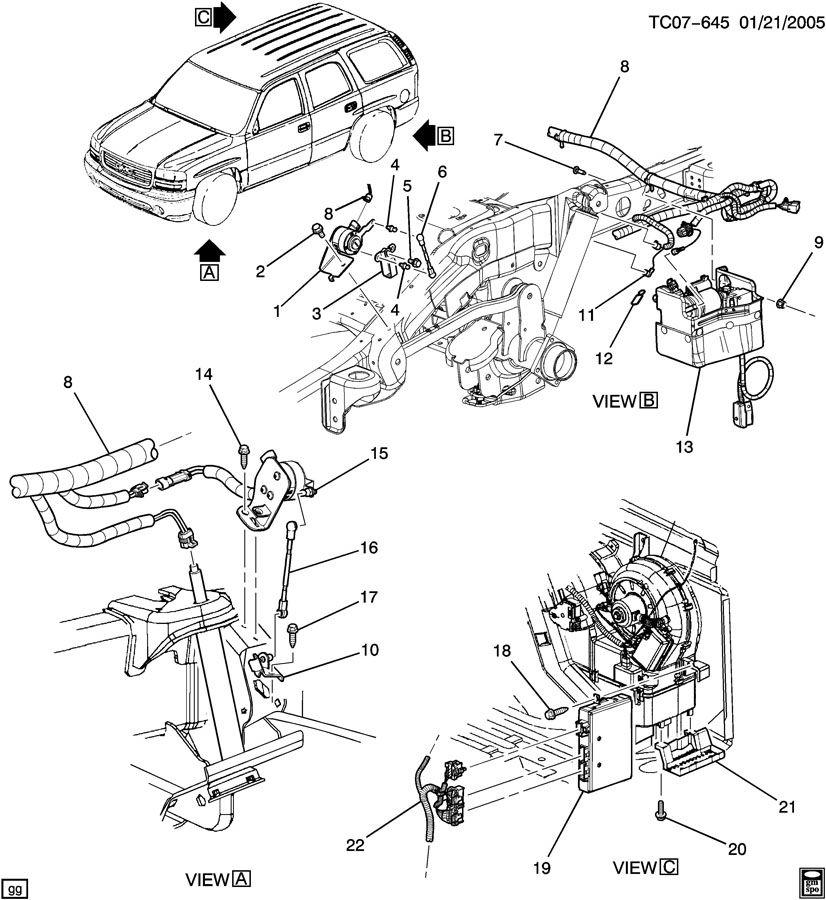 2004 cadillac deville parts diagram