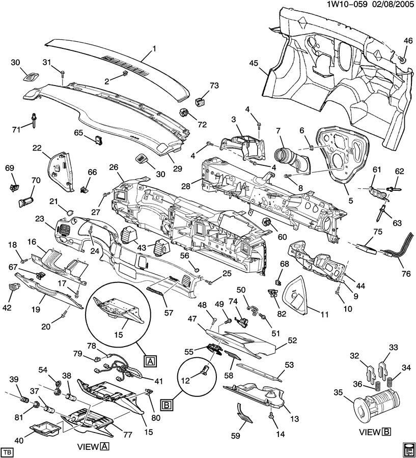 2004 Chevrolet Impala Ashtray. Instrument panel ashtray ...