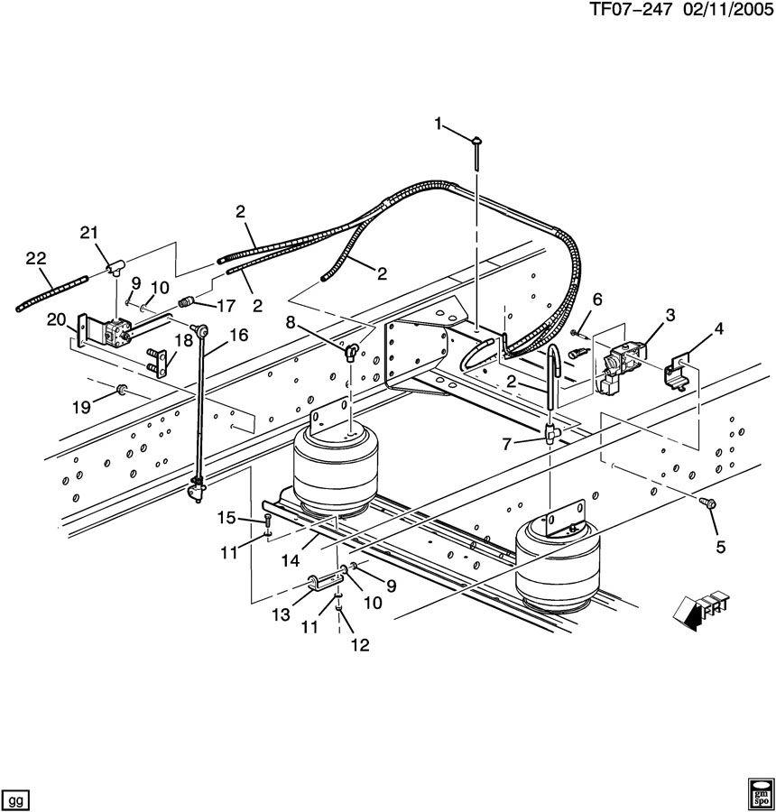 suspension  rear air part 2 valves  u0026 lines