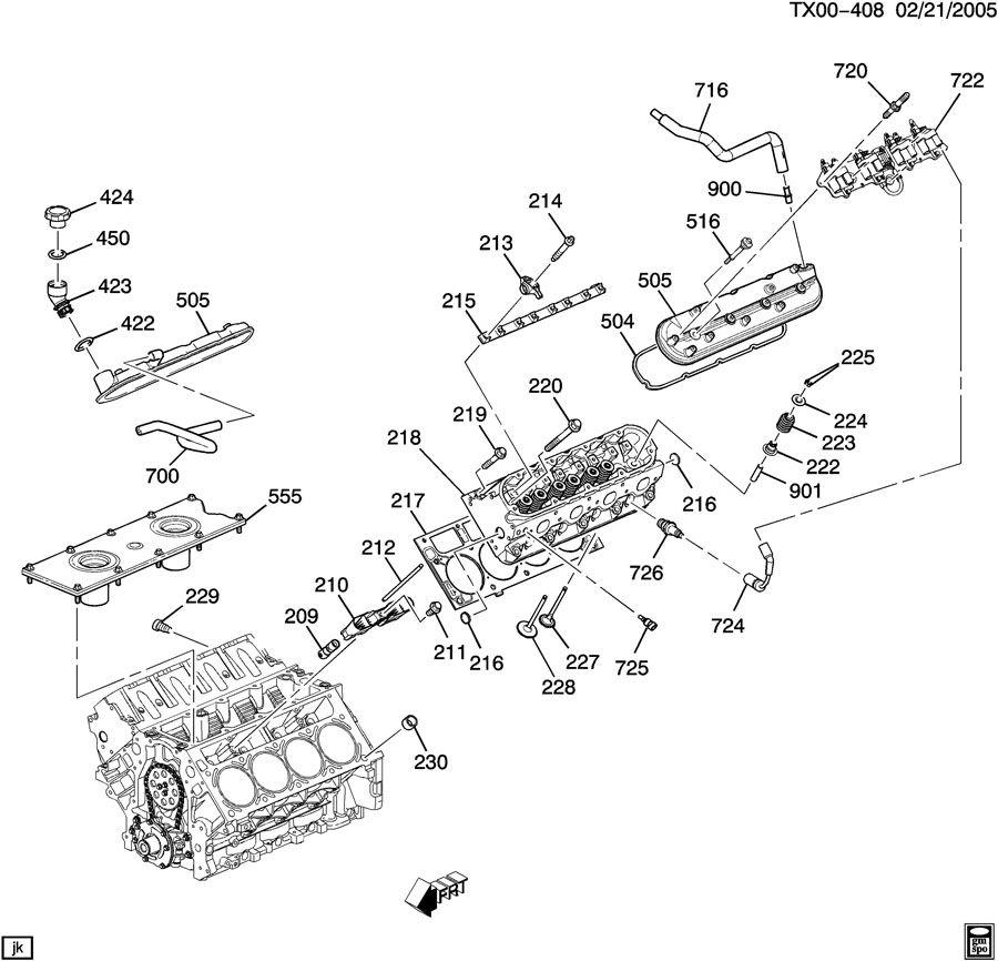 Hummer H2 Plug  Engine Cylinder Head  Engine Fuel Intake