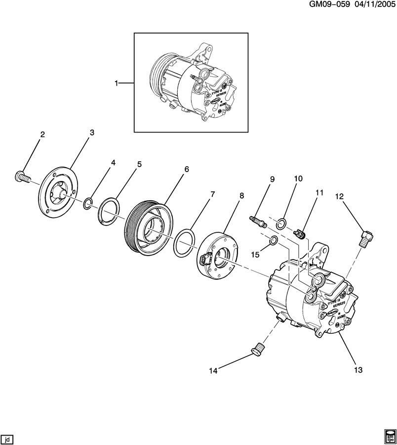 2008 Chevrolet Impala A  C Compressor Clutch  Works  Wdwl