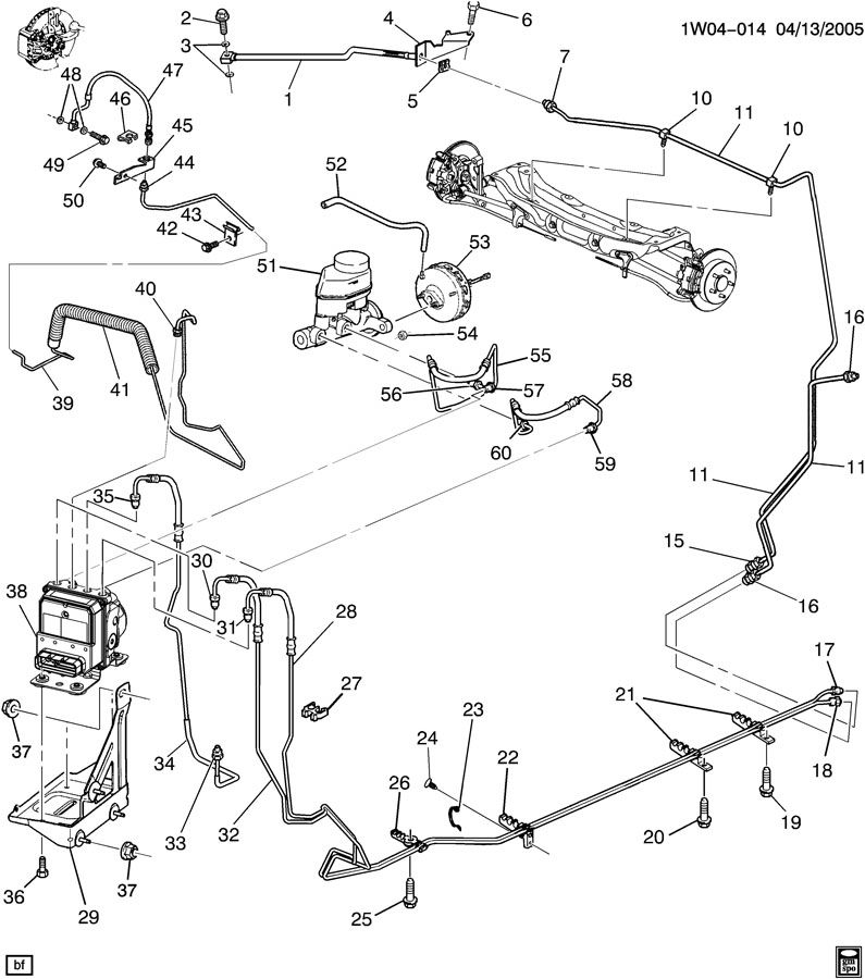 Chevrolet Monte Carlo Pipe. Hydraulic brake. Pipe, frt brk ...
