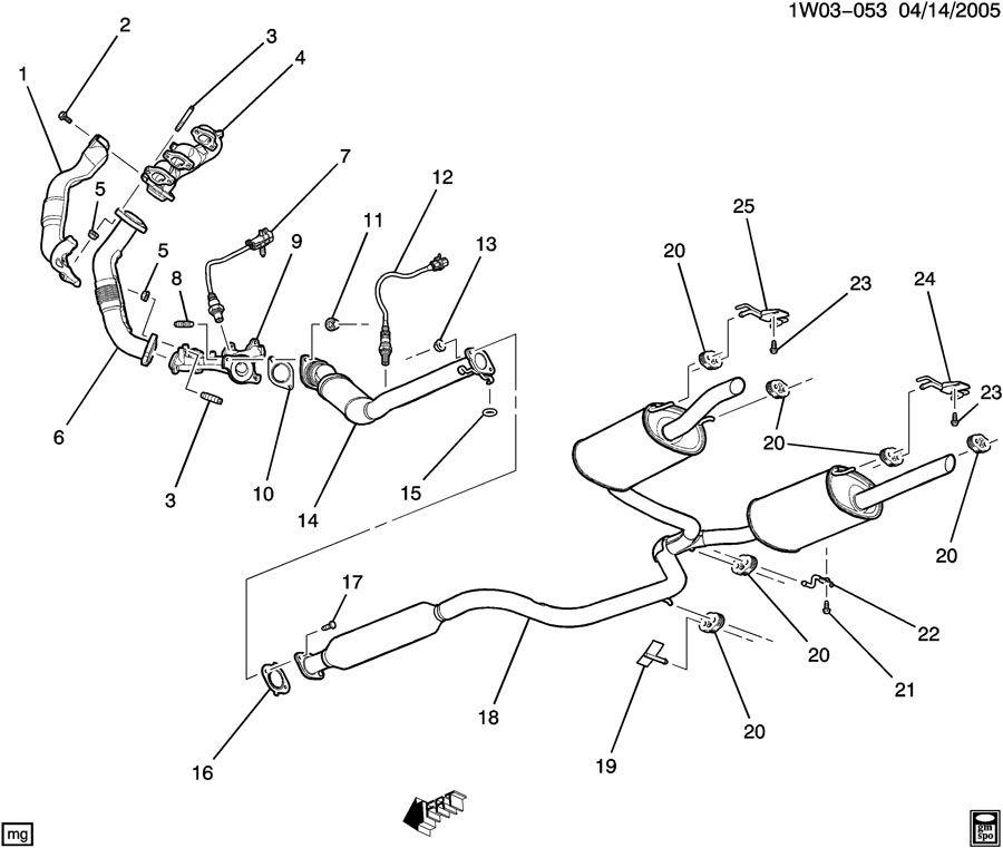 Chevrolet Impala Bracket  Exhaust Muffler  Resonator  Bracket  Exh Muff Frt Hngr Brkt