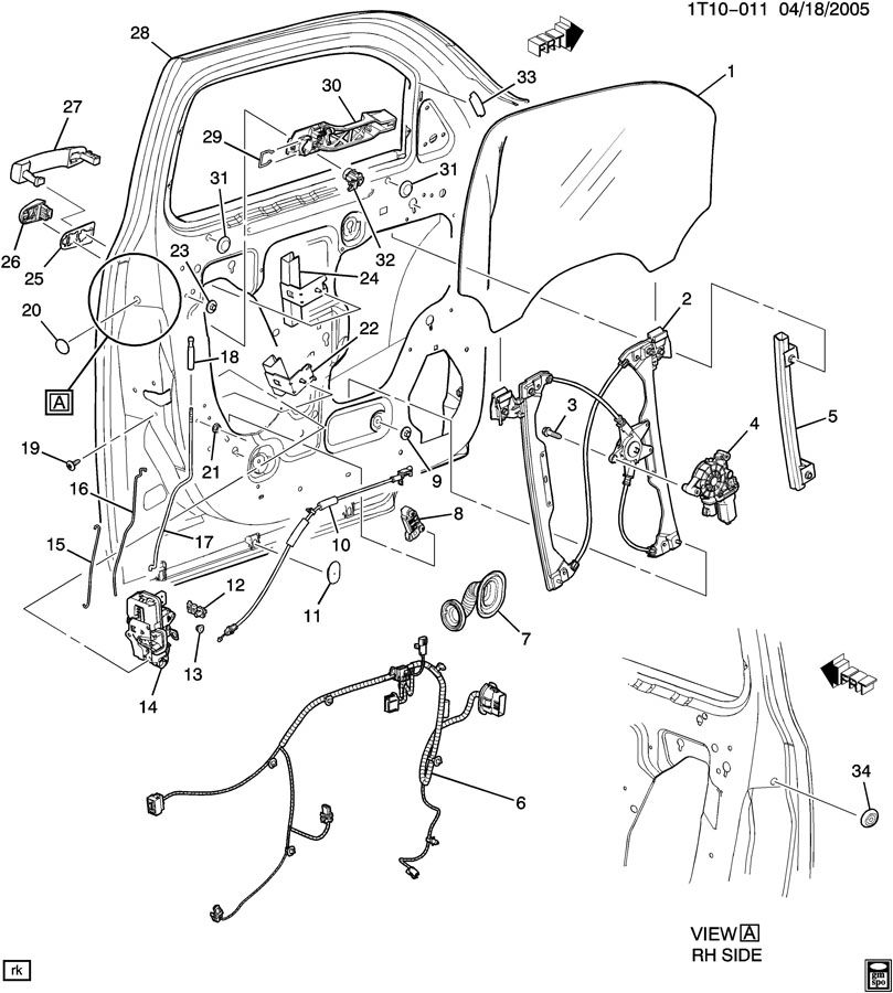 2007 chevy hhr parts diagram  catalog  auto parts catalog