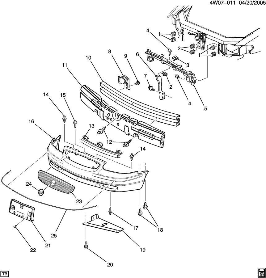 2001 Buick Regal BUMPER/FRONT