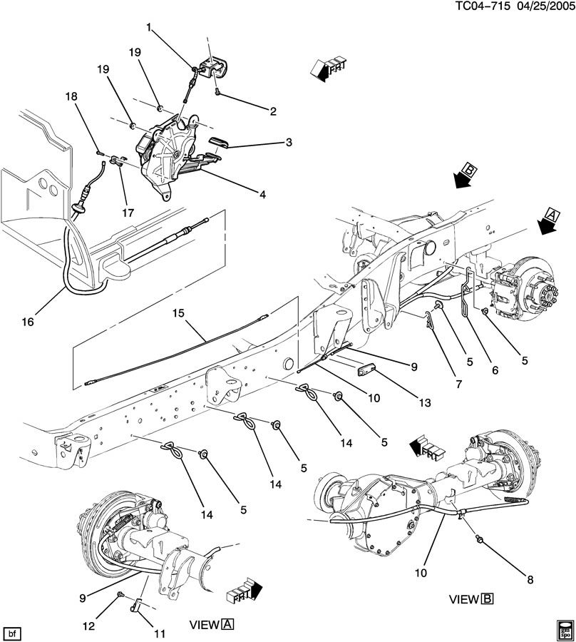 2002 Chevy Silverado Parking Brake Diagram