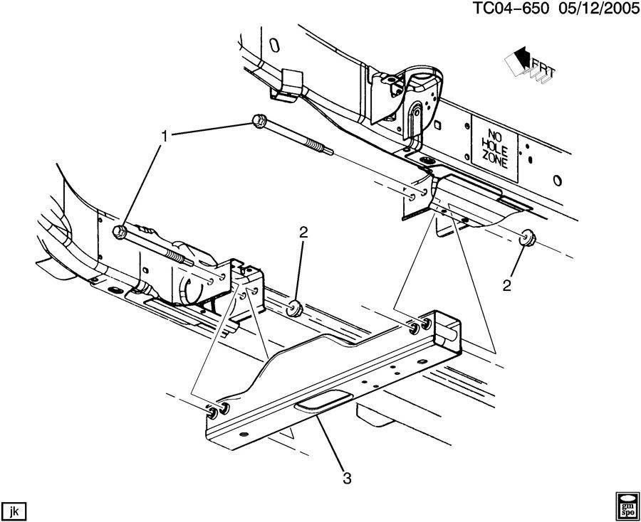 2000 Chevrolet Silverado Crossmember  Transmission