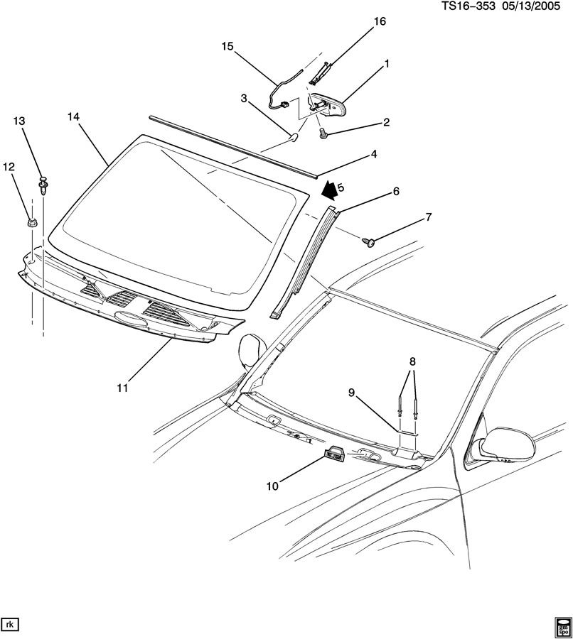 chevrolet trailblazer windshield  u0026 related parts