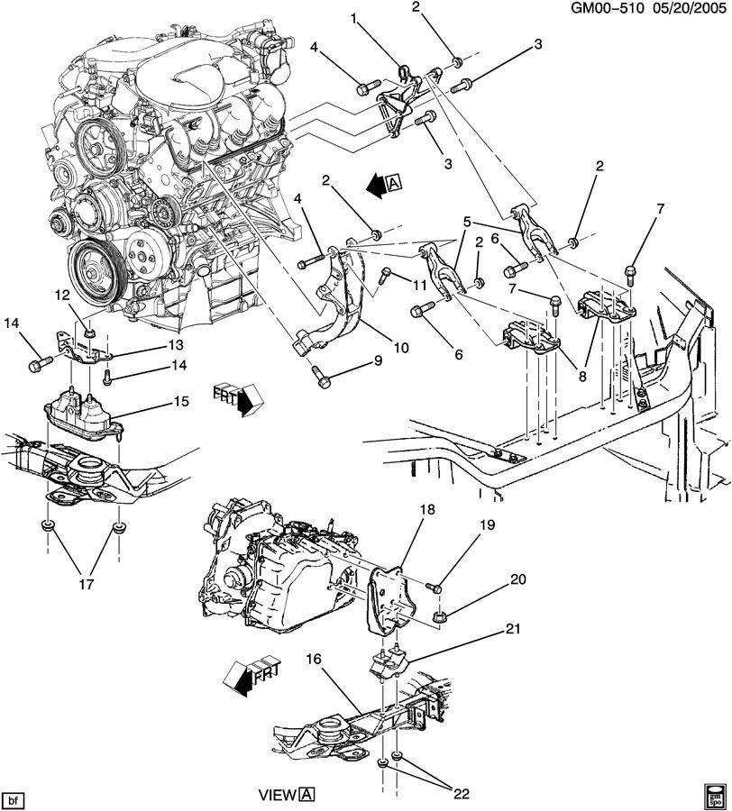 Pontiac Montana Engine  U0026 Transaxle Mounting