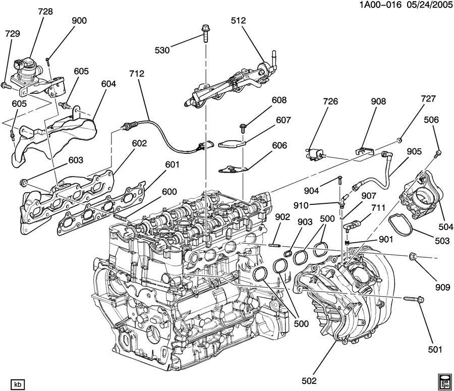 Saturn Vue Manifold  Engine Fuel Intake Manifold  Manifold