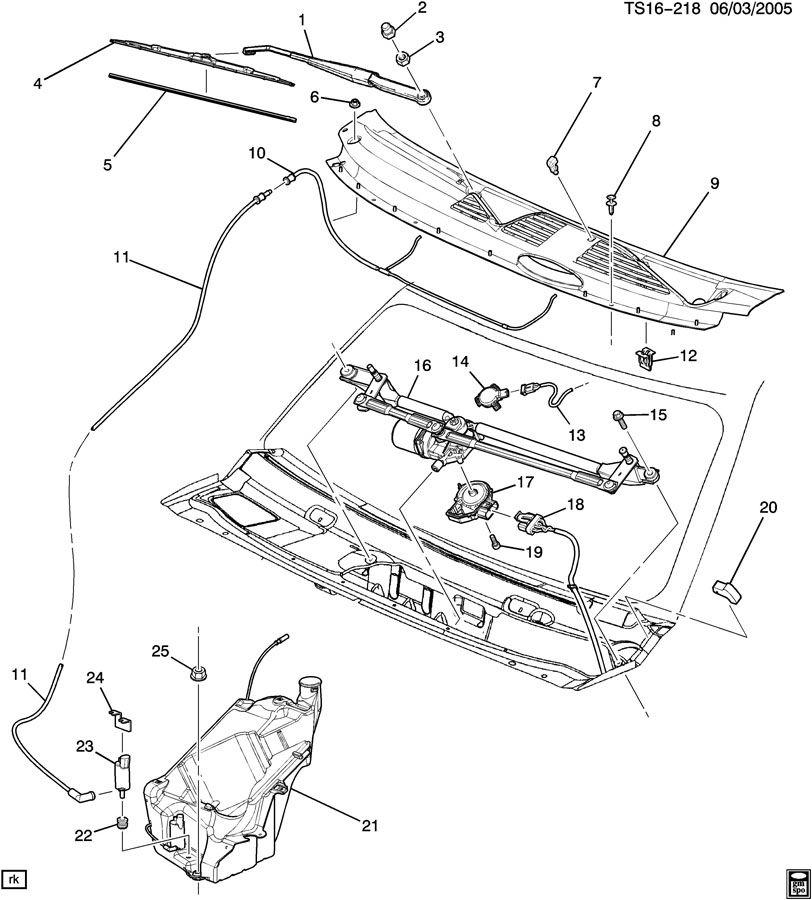 Chevrolet Trailblazer Cover Kit  Windshield Wiper Motor  Kitwsw  Motuse  Bdacdelco