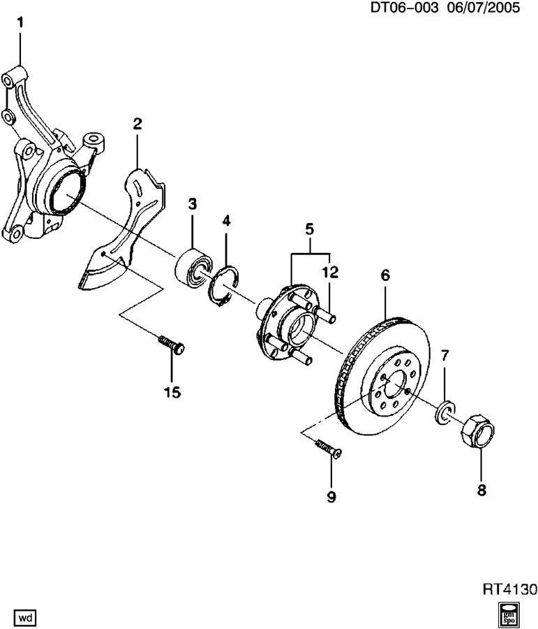 Chevrolet Aveo Hub  Front Wheel  Front Wheel Inner  Hub  Frt Whl Acdelco  Fw325   Hub