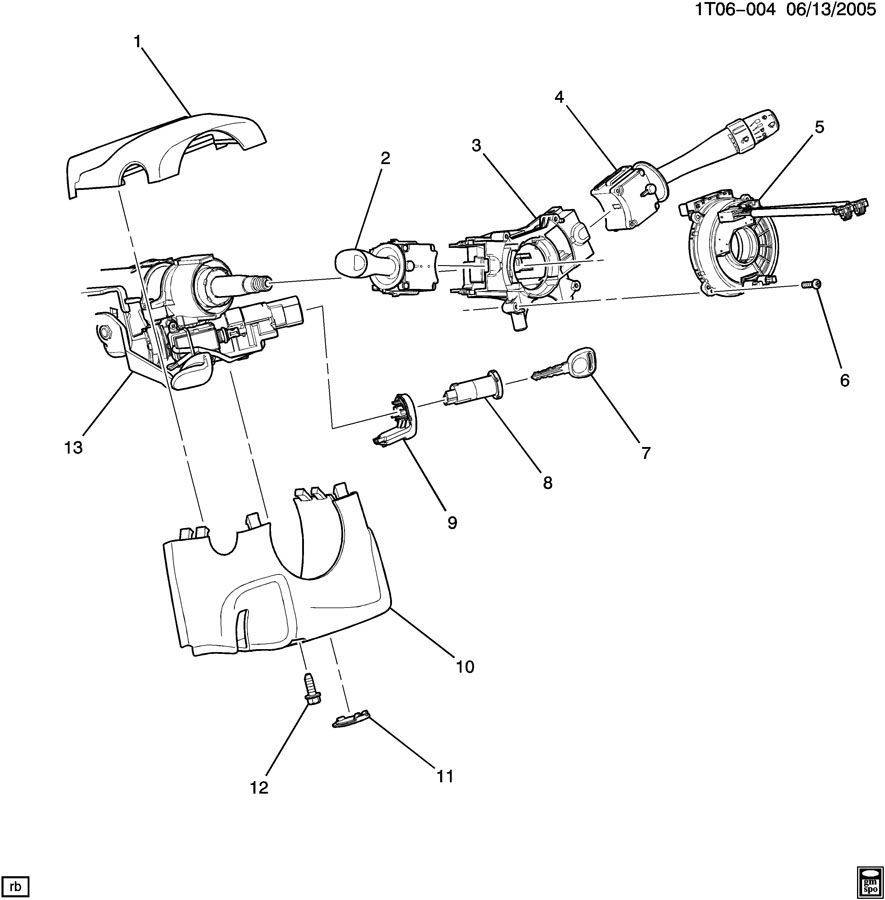 steering column part 2 cover  u0026 switches