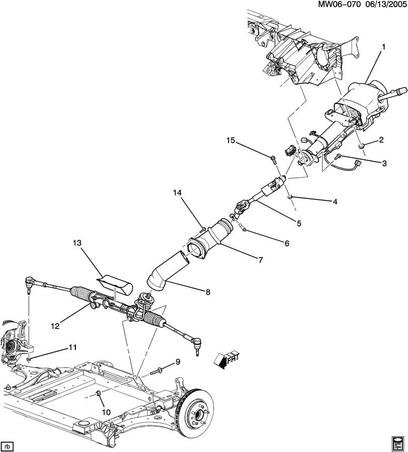service manual  steering column removal 2008 buick