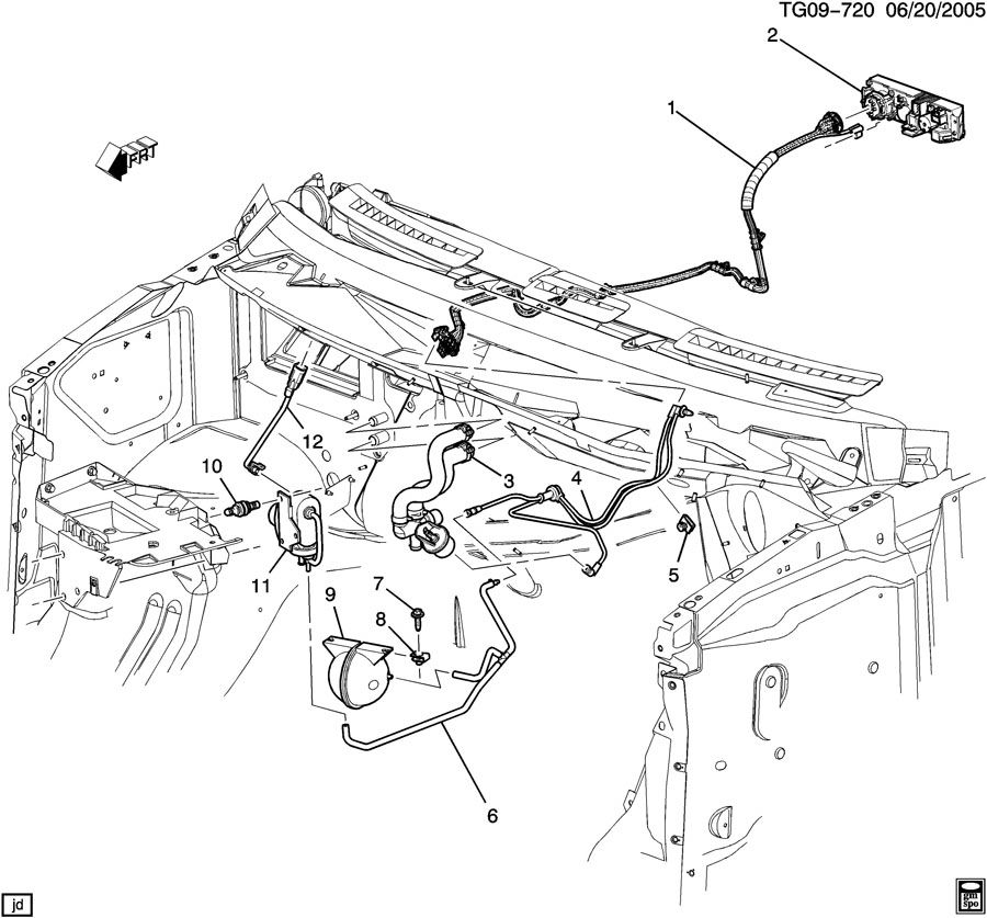 2012 gmc savana diagram showing brake line