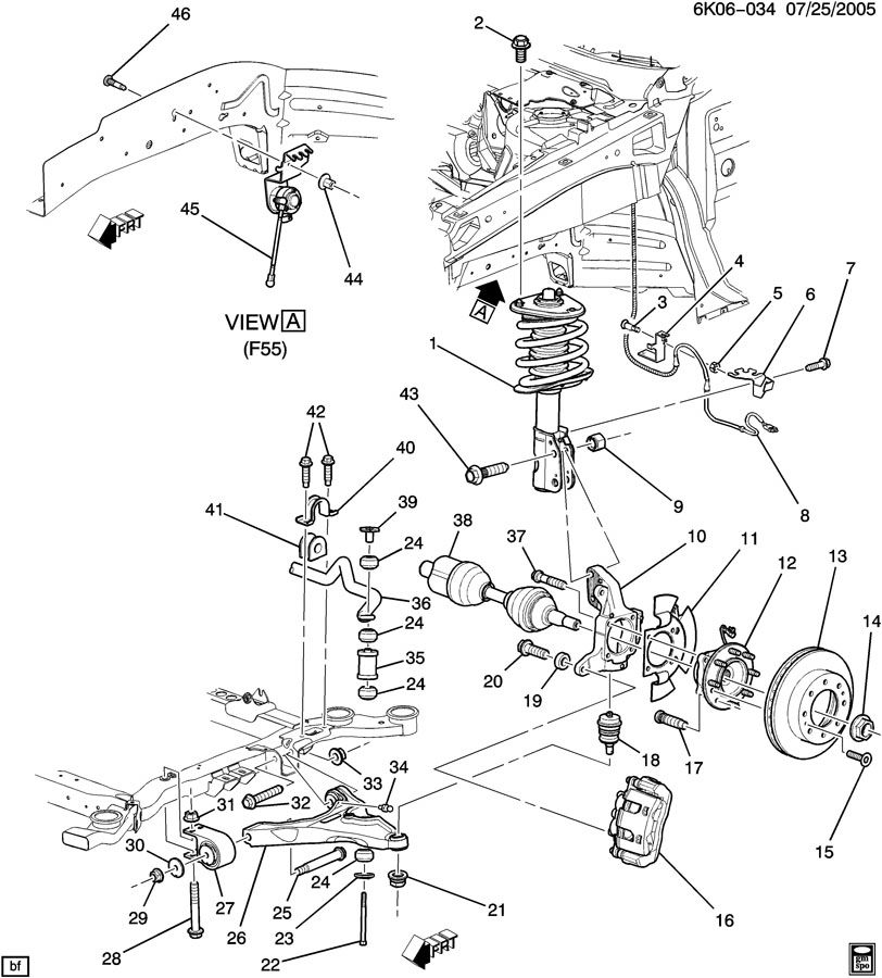 2007 cadillac dts suspension  front
