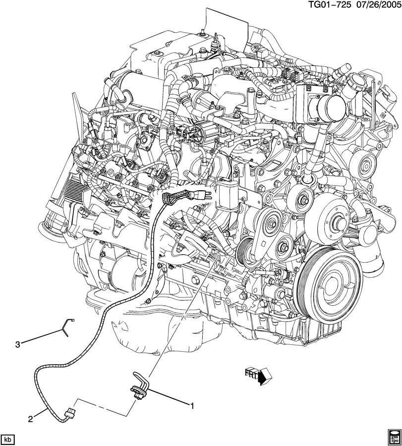 2008 chevrolet express engine block heater
