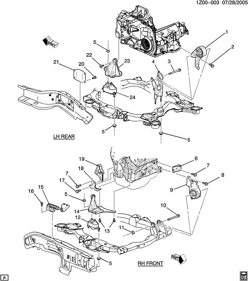 ecotec engine mount diagram