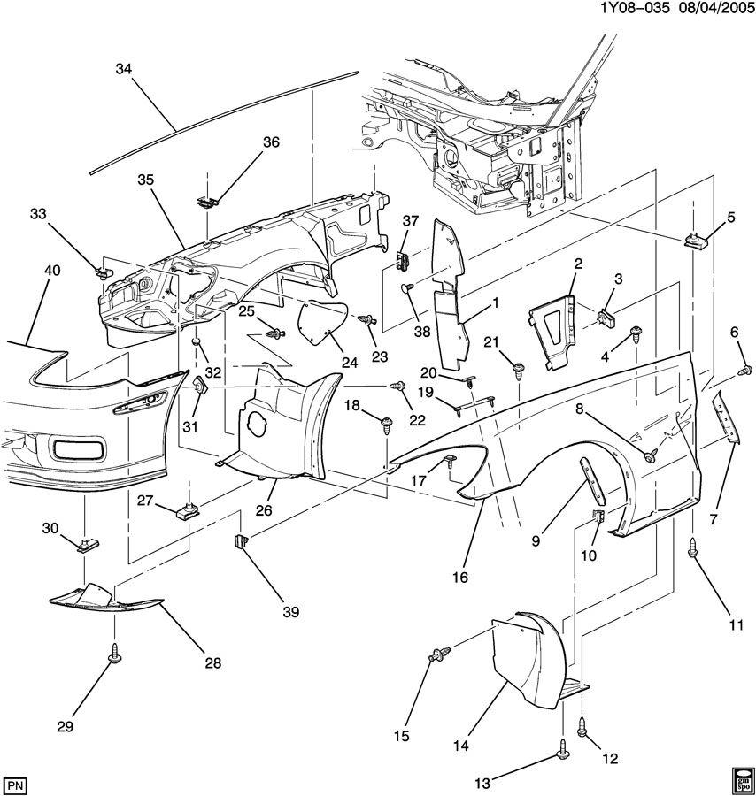 Chevrolet Trailblazer Stud  Bolt  Main Wiring Junction And