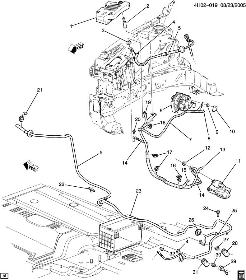 2007 Buick Lucerne Engine Cover on Chevy Cavalier Wiring Diagram