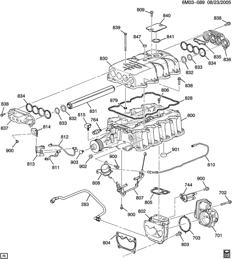 cadillac supercharger 2006  cooling gm 12590392