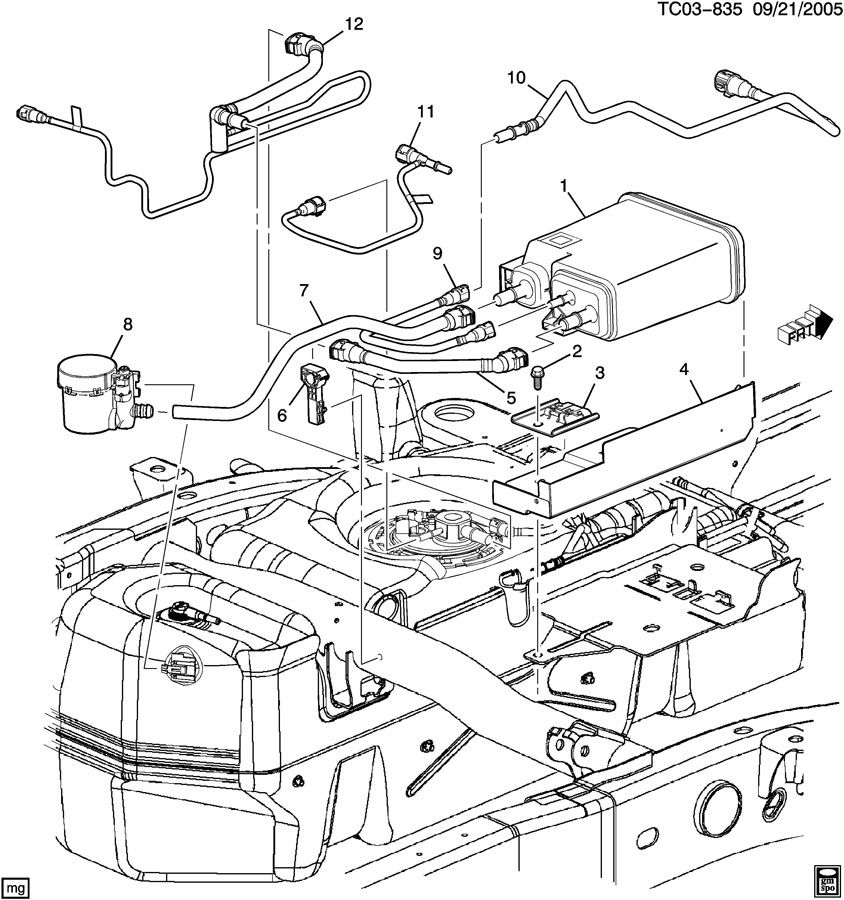 ck157 257  vapor canister  u0026 related parts