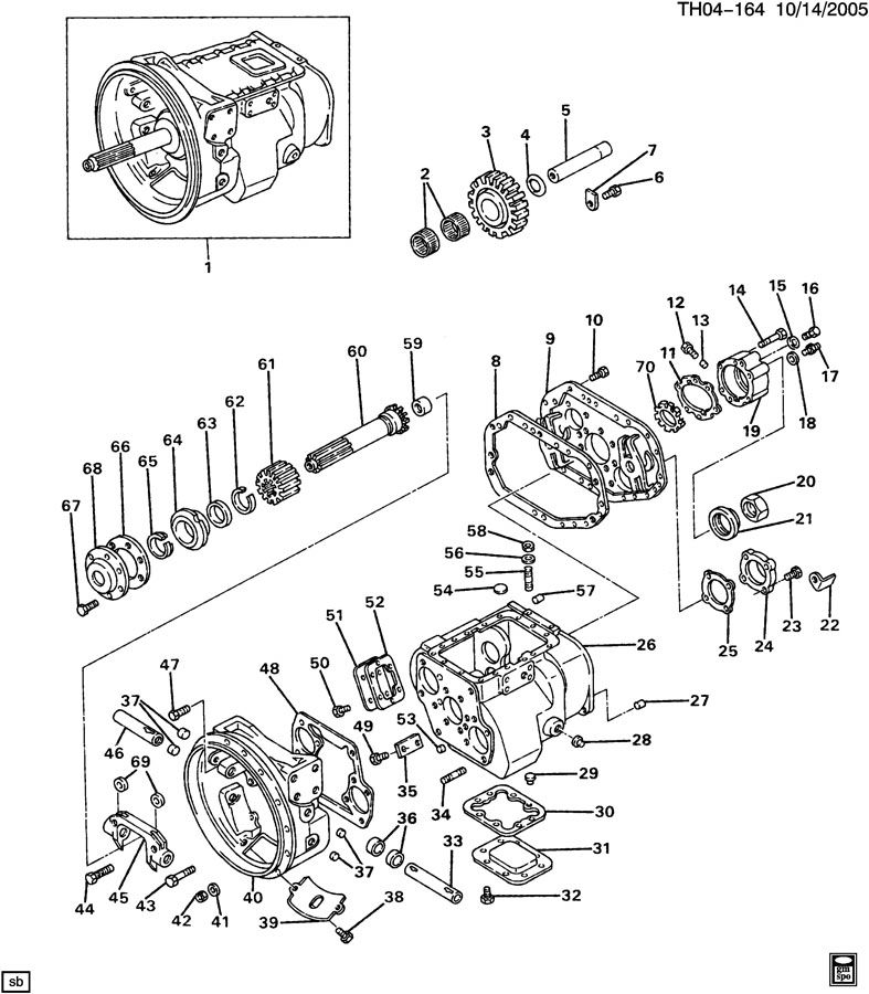 FULLER T8607B (MPB) 7-SPEED TRANSMISSION PART 1 (CASE SECTION)