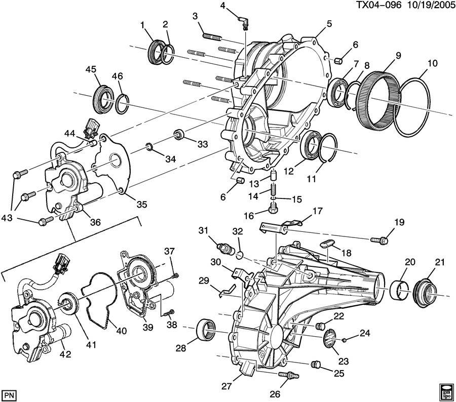 12547466  GMC Seal Transfer case Seal  trfer case input