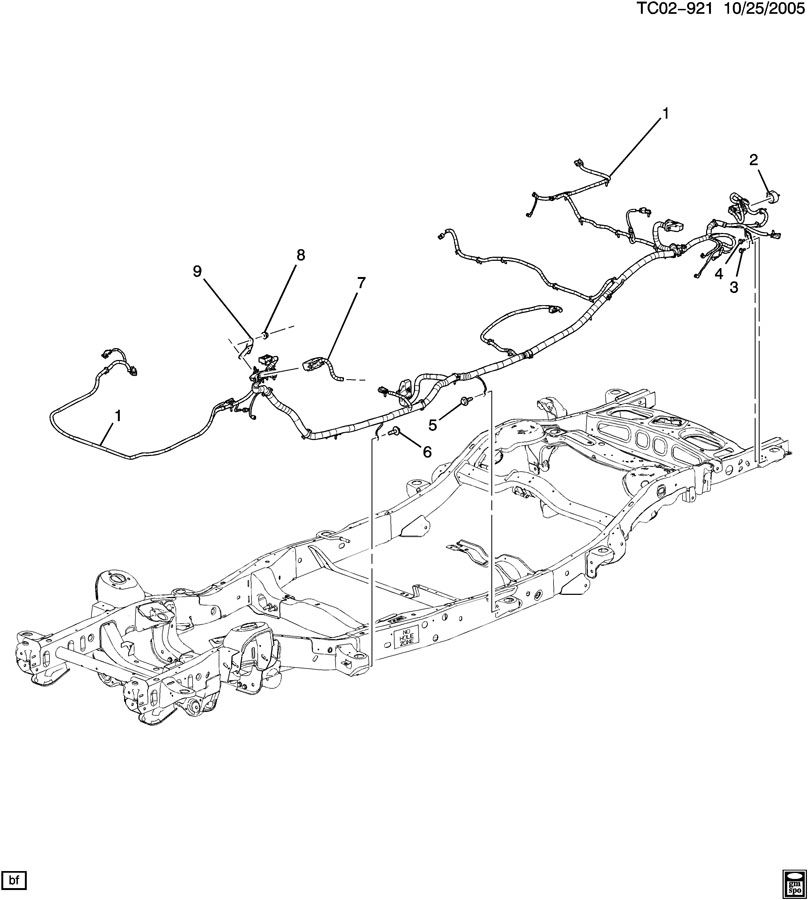 2007 chevrolet tahoe lt wiring harness  chassis
