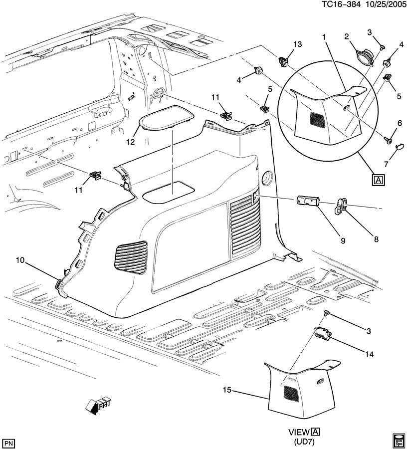GMC YUKON Panel. Body Interior Trim. Panel, Body Si Tr
