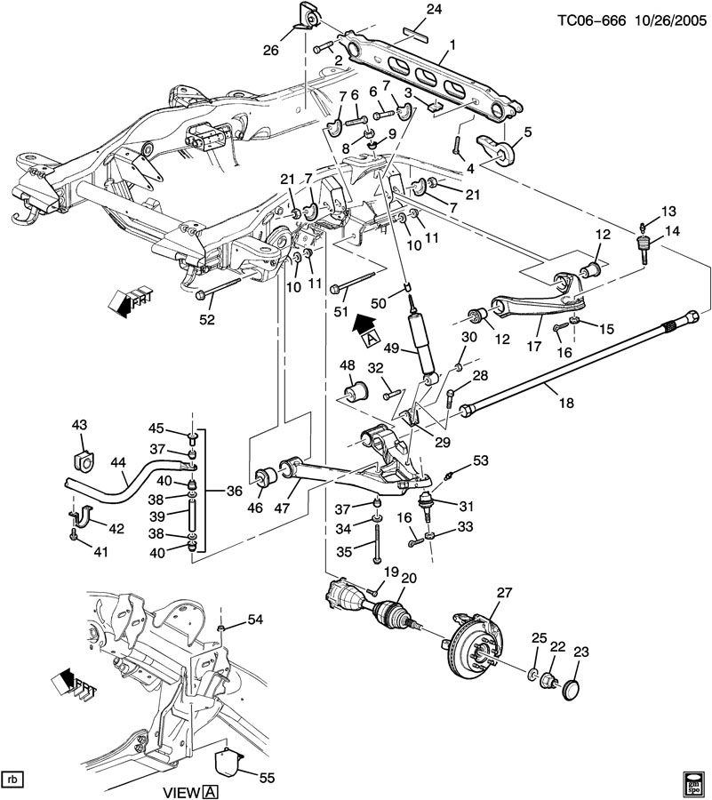 Chevrolet Silverado Bar  Front Chassis  Bar  Frt Tors Code