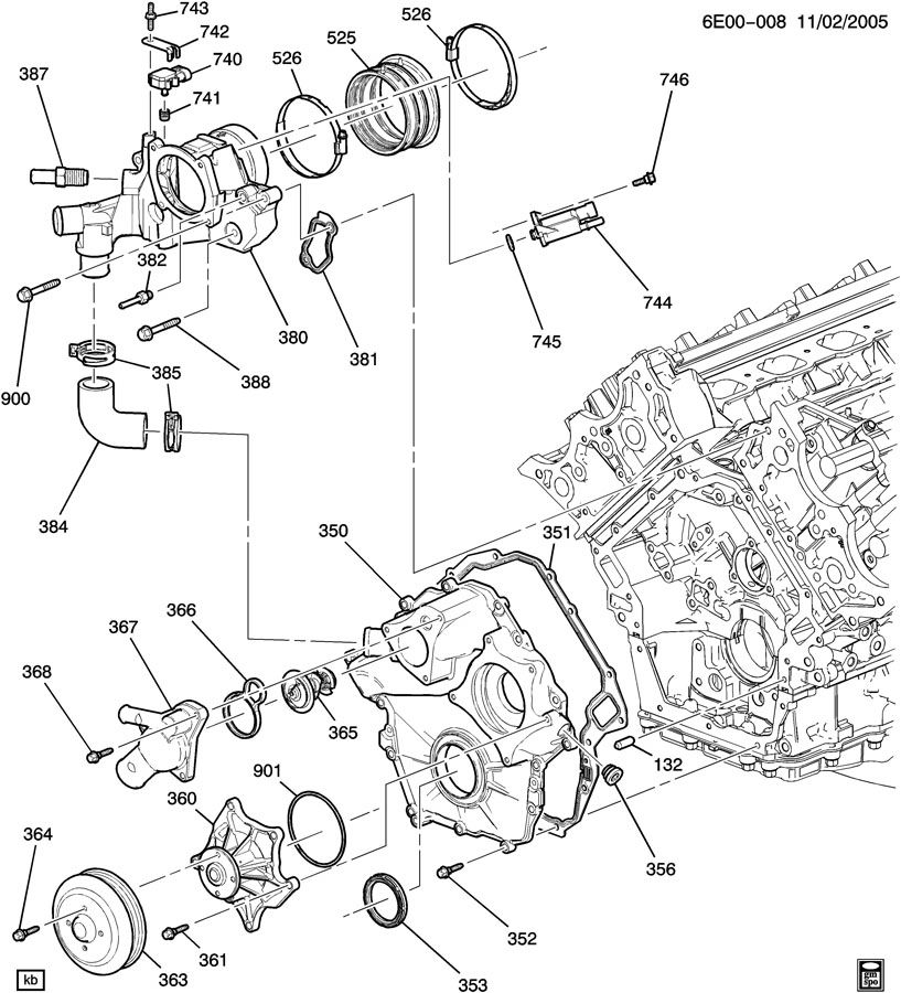 Cadillac Sts Engine Diagram