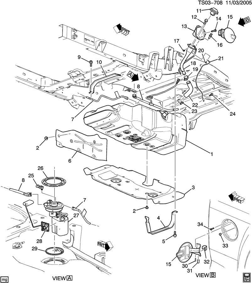 fuel tank mounting  u0026 filler pipe